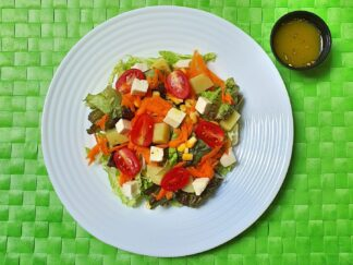 Salada no pote equilibrio - Caseiramente